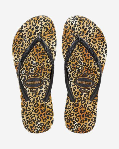 Slim Leopard Flip Flops
