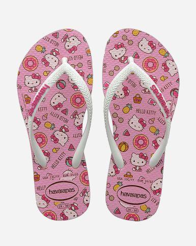 Kids Slim Hello Kitty Flip Flops