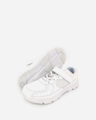白色魔術貼返學皮鞋
