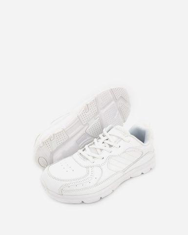 白色綁帶返學皮鞋