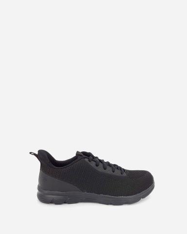 黑色網面魔術貼返學鞋