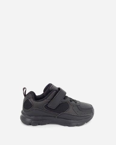 黑色魔術貼返學皮鞋