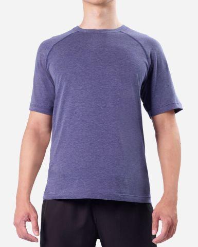藍色圓領短袖速乾T恤