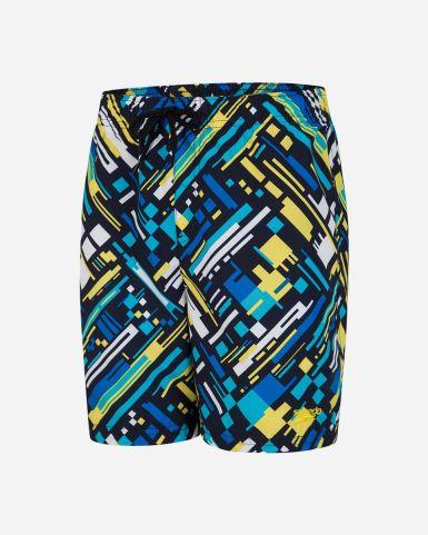 GLITCHWARP ALLOVER 15 吋 沙灘褲