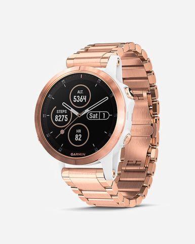 Fenix 5S Plus 智能手錶 (玫瑰金色錶圈搭金屬錶帶)