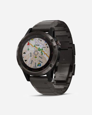 Fenix 5 Plus 智能手錶 (鈦合金錶帶並附贈黑色矽膠錶帶| 1年保養)