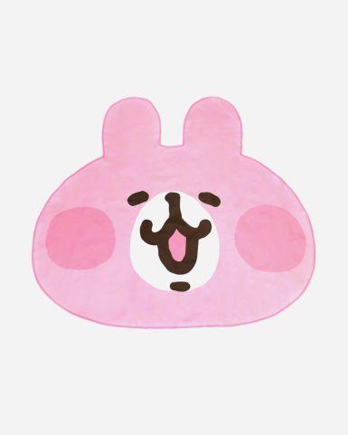 粉紅兔兔頭像野餐墊