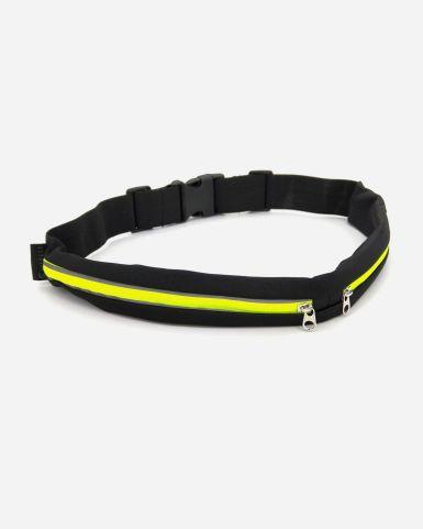 Elastic Long Waist Bag (Green Zip)