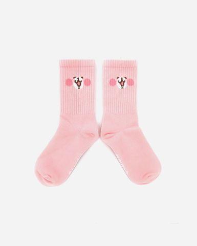 粉紅兔兔腳踝襪