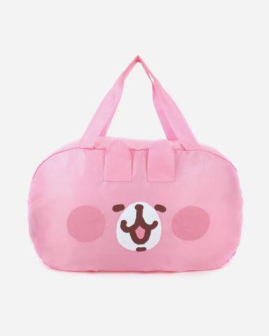 粉紅兔兔頭像造型旅行袋