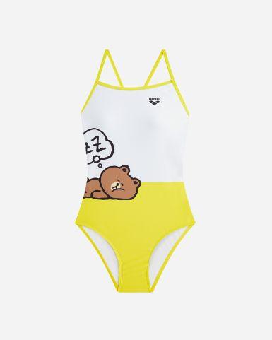 LineFriends中童泳裝PlayDoodle連身泳衣