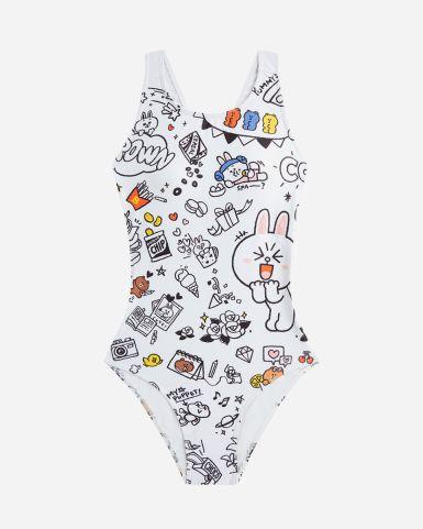 Line Friends 女士泳衣 PlayDoodle 連身泳衣
