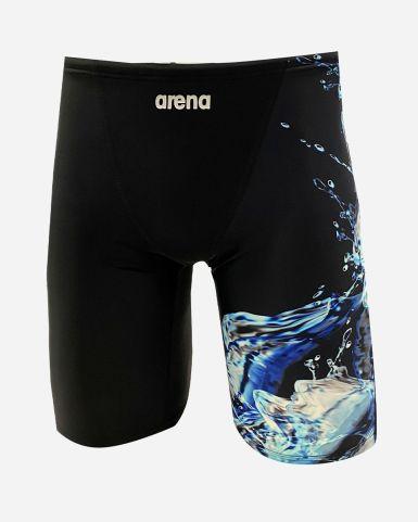 男士泳裝 DANCING WATER 印花及膝泳褲
